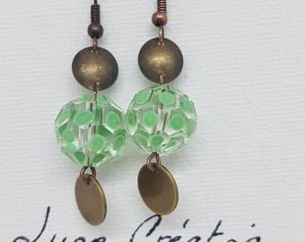 "Earrings ""I think green"""