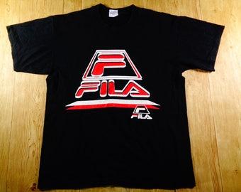 Vintage FILA Big Logo Shirt Large Size Rare Design
