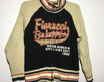 rare fiorucci spell out embroided jacket