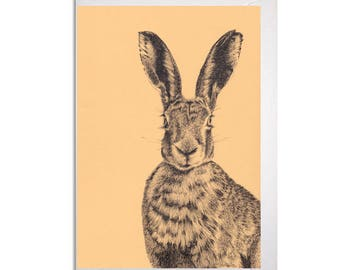 Dorset Hare Greetings Card
