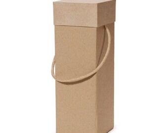 Paper Mache Wine Box, Wine Bag, Wine Box, Wine, Wine Accessories, Rustic, Rustic Wedding, Wedding Favors, Favors, Party Favors, Party