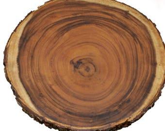 1PC Rustic Wedding Centerpiece, Round/Oval Tree Bark Slice, Rustic Wood, Rustic, Rustic Decorations, Natural Wood Slice, Tree Slice