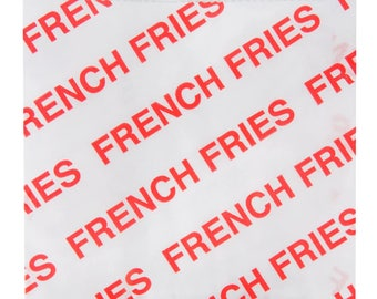 50 Bags French Fries Bag Assorted Sizes, French Fries Bag, Concession Stand Supplies, Party, Birthday Party, Bachelorette Party, Baby Shower