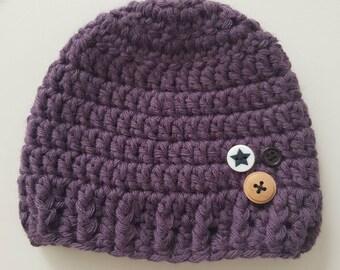 Cool crochet - baby - newborn - pruple
