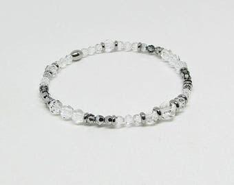 Bracelet - Swarovski Crystal - JET - SET