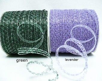 Curling ribbon iridescent green, curling ribbon iridescent  lavendert 5 mm x 100 yards