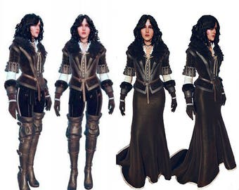 Yennefer game cosplay costume The Witcher 3