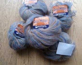 Sweet Mohair Yarn 1122-Mondial-Kid Mohair + acrylic