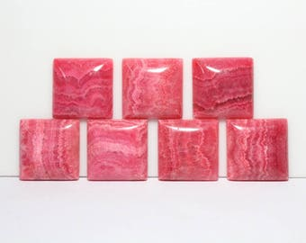 40% Off 2 Pcs Of Natural RHODOCHROSITE, 25x7 mm Size, Square Shape Gemstone, Smooth Loose Cabochon, +++ AAA Quality Rhodochrosite Rc#2213
