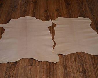 2 leather beige lamb leather velvet finish (9244551)