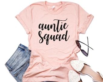 Aunt Shirt, Auntie Squad, Aunt Pregnancy Announcement, Aunt Squad Shirt, Aunt T-shirt, Auntie T-shirt, Promoted to Aunt Shirt