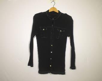 Sale!! Sale!! Vintage Tsumori Chisato Pleat Please Shirt Black Rare