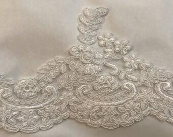 Ecru lace guipure 12 cm wide