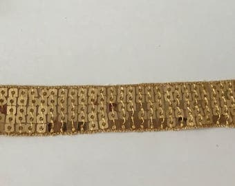 Ribbon Sequin Gold 2.5 cm wide