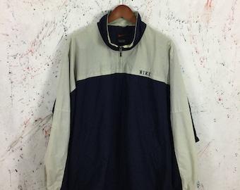 Vintage 90s Nike Windbreaker Bomber Pullover Jacket Size XL 90s Hip Hop Swag