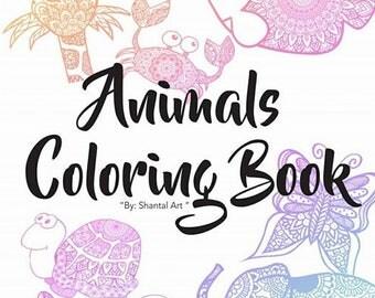 Animals mandalas coloring book | Shantal Art | MAndalas & Zentangle.