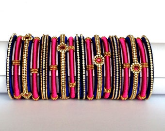 Silk Thread Bangles / Indian Jewellery For Party Wear