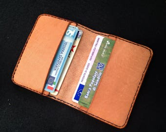 Genuine Leather Card Holder, Purse, Minimalist, Handmade, Hand stitched, Handcrafted.