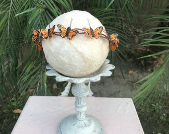 Butterfly flower crown, butterfly headband, boho flower girl, boho flower crown, boho wedding, boho bride, boho maternity, boho babyshower