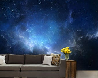 ceiling galaxy, ceiling wallpaper, nebula wall mural, peel and stick, universe wallpaper, star wall mural, nebula  ceiling wallpaper
