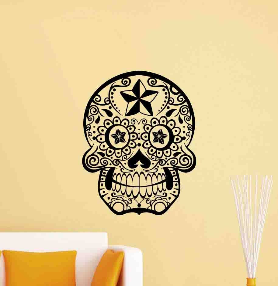 Fine Sugar Skull Wall Decor Photo - Wall Art Collections ...