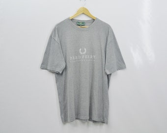 Fred Perry Vintage Size L Fred Perry T Shirt Fred Perry Men Shirt Made In England Size L
