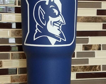 Duke Blue Devils Tumbler (powder coated 30 oz) - FREE SHIPPING