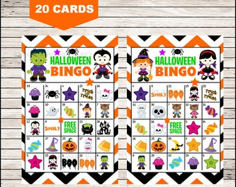 It is a photo of Gutsy 25 Printable Halloween Bingo Cards