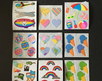 Sandylion vintage rare shiny and paper sticker lot