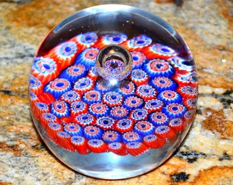Millefiori Glass Paperweight-Art Glass