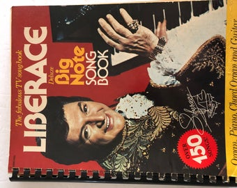 Liberace Big Note Song Book - 1977 - Orga, Piano, Guitar Sheet Music