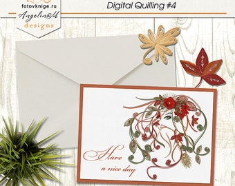 Card. Digital Quilling #4 Have a nice day