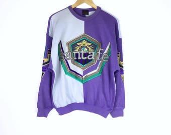 Rare!!! Vintage Santafe Sweatshirt Big Logo Spellout Embroidery Multicolors Santafe Spellout Pullover Hip Hop Swag