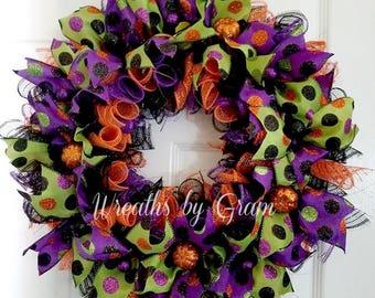Halloween Wreath   Halloween Decor   Fall Wreath   Halloween Decoration   Front Door Wreath   Whimsical Wreath   Halloween Door Wreath