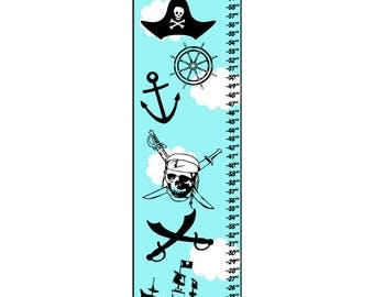 Personalized Pirate Growth Chart Ruler