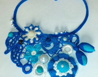 """Crochet necklace """"Butterfly"""" 