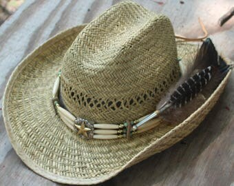 Hatband with Star and Feathers