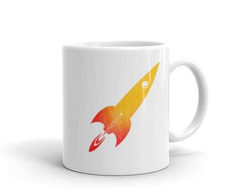 Model Rocket Mug Scientist Science Universe Rocketry made in the USA