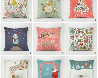 Christmas pillow cover pack snowman pillow santa throw pillow christmas gift christmas tree cushoin decorative holiday pillow winter