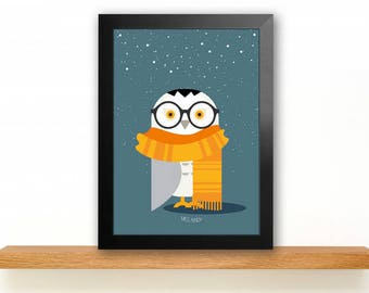 A4 Harry Potter owl poster Kids room picture