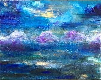 11x14 Serene Original Acrylic Painting 'Roil'