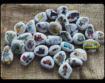 Custom-made Story Stones.