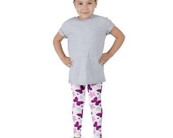 Kids Leggings/Yoga Pants Butterfly Flower Design Multiple Sizes Available