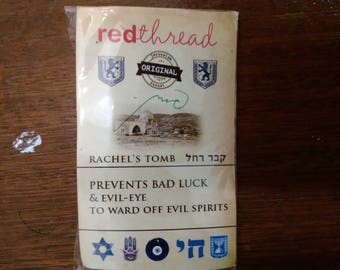 Pack of red string kabbalah bracelet and holy land sand and small blessing ,5 red thread evil eye bracelets,israel red thread bracelet,