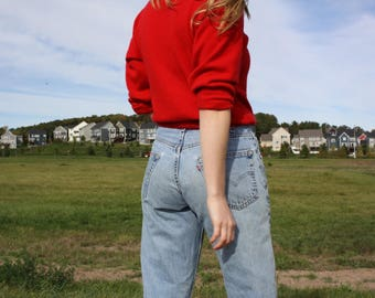 Vintage Levi's Jeans / High Waist Relaxed Denim / 90's 569 Levi Jeans Sz 29