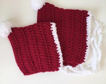 Baby Santa hat, christmas pixie hat, baby pixie bonnet, winter baby bonnet, winter baby hat, toddler pixie bonnet, baby christmas hat