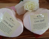 Valentine Bath Bombs- Limited Time Only -Aromatherapy - Coconut Oil - all natural - pure - skin softening - relaxing -soothing-all natural