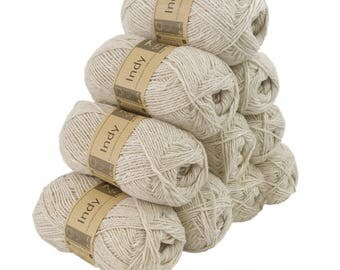 INDY, 016 color yarn 10 x 50 g recycling - antique white