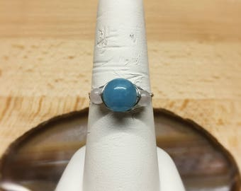 Angelite and Rose Quartz Ring