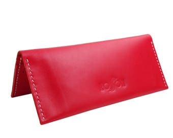 Womens Leather Wallet , Leather smartphone wallet , womens wallet , women's wallet , long wallet , Red Leather Wallet